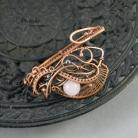 Bransoletki bransoletka,miedź,kwarc,retro,wire wrapping