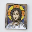 Ceramika i szkło Chrystus,ikona,ceramika,obraz