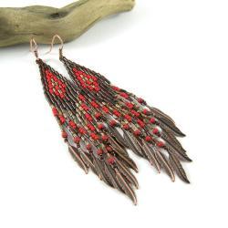 kolczyki koralikowe,kolczyki etniczne - Kolczyki - Biżuteria