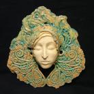 Ceramika i szkło maska,twarz,orient,turkus,ornament