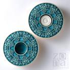 Ceramika i szkło lampiony,świeczniki,ceramika,turkus
