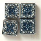Ceramika i szkło ceramiczne dekory,kafle,ornamentowe,niebieskie