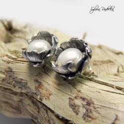 Kolczyki sztyfty z oerłą naturalną - Kolczyki - Biżuteria