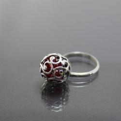 połyskujący,ażurowy,elegancki pierścionek - Pierścionki - Biżuteria