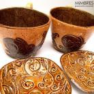 Ceramika i szkło filiżanki,talerzyki,kawa,mimbres