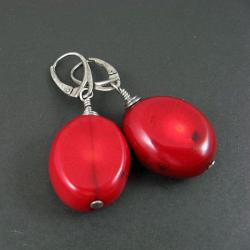 okazałe,czerwone,koralowe - Kolczyki - Biżuteria