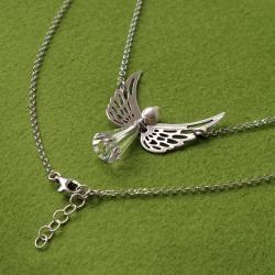 delikatny naszyjnik z motywem anioła - Naszyjniki - Biżuteria