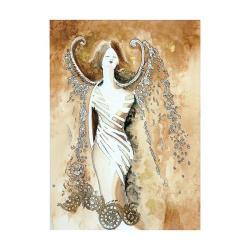 grafika,ozdoba,aniołek,prezent,do domu,ślub,brąz - Ilustracje, rysunki, fotografia - Wyposażenie wnętrz