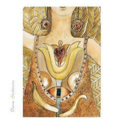 kobieta,akwarela,obraz,grafika,na ścianę,anioły - Ilustracje, rysunki, fotografia - Wyposażenie wnętrz