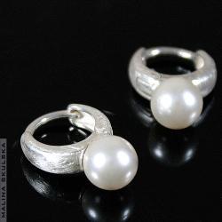kolczyki,perły,srebrne,seashell,eleganckie.proste - Kolczyki - Biżuteria