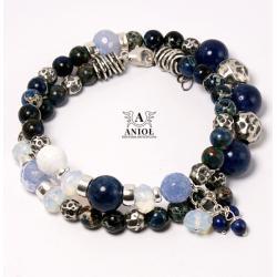 bransoleta damska,srebrna biżuteria,koraliki - Bransoletki - Biżuteria