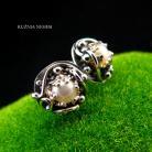 Kolczyki Nehesi,Kolczyki,wkrętki,z perłami,Srebra,sztyfty