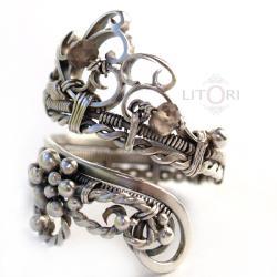 srebrny,pierścionek,lekki,ażurowy,litori - Pierścionki - Biżuteria