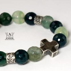 bransoleta damska,kamienie,srebrna biżuteria - Bransoletki - Biżuteria
