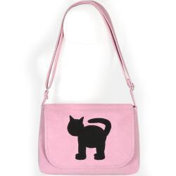 kocia torba,kotek dla dziewczynki,różowa,pudrowy - Na ramię - Torebki