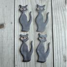 Magnesy na lodówkę kot,zwierzęta,magnes,ceramika
