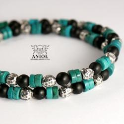 naszyjnik,bransoleta,koraliki męskie - Dla mężczyzn - Biżuteria
