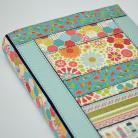 Notesy kalendarz książkowy 2015,patchwork,kwiaty