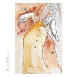 anioł,anioły,grafika,ozdoba,na ścianę,skrzydła, - Ilustracje, rysunki, fotografia - Wyposażenie wnętrz