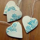 Ceramika i szkło serca,serduszka,zawieszki,ozdoby choinkowe,