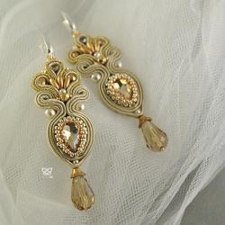sutasz ślubny,złoto,biżuteria ślubna - Kolczyki - Biżuteria