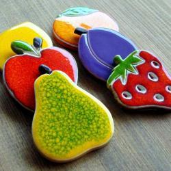 owoce,soczyste,kolorowe,kuchnia - Magnesy na lodówkę - Wyposażenie wnętrz