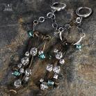 Kolczyki kolczyki,rzemień,biżuteria etniczna