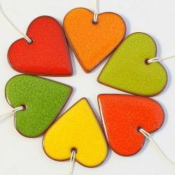 serca,zawieszki,choinka,święta,stroik - Ceramika i szkło - Wyposażenie wnętrz
