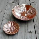 Ceramika i szkło misa,miseczka,fusetka,stare złoto