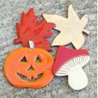 Magnesy na lodówkę jesień,liście,dynia,jeż,magnesy,kuchnia