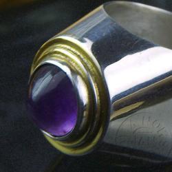 pierścionek,srebro,ametyst,unikat,pomianowski - Pierścionki - Biżuteria