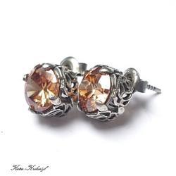 koronkowe,sztyfty,eleganckie - Kolczyki - Biżuteria