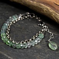 podwójna bransoleta,z kamieniami - Bransoletki - Biżuteria