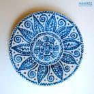 Ceramika i szkło porcelana,talerz,indiańskie wzory