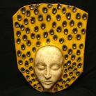 Ceramika i szkło dekoracja,klimat,nastrój,twarz,maska,ceramika