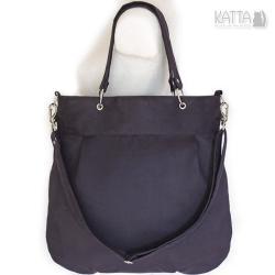 czarna torba,elegancka,alkantara,miejska,wegańska - Na ramię - Torebki