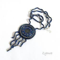 naszyjnik,niebieski,lato,lekki,elegancki - Naszyjniki - Biżuteria