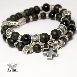 bransoleta,czaszki,biżuteria gotycka - Bransoletki - Biżuteria