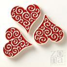 Ceramika i szkło magnesy,ceramiczne,czerwone,serce,na lodówkę