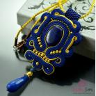 Naszyjniki naszyjnik sutasz,graatowy,złoty,lapis lazuli