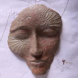 maska,unikat,rękodzieło,na ścianę - Ceramika i szkło - Wyposażenie wnętrz