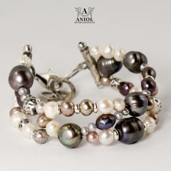 bransoleta z pereł,damska biżuteria - Bransoletki - Biżuteria