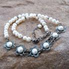 Naszyjniki naszyjnik,z perłami,srerbrny,ślubny,artseko