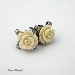różyczki,sztyfty,eleganckie,romantyczne - Kolczyki - Biżuteria