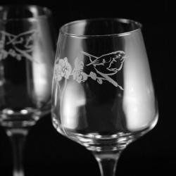 grawerowane,piaskowane,rudzik,orchidea - Ceramika i szkło - Wyposażenie wnętrz
