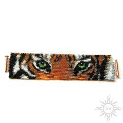 tygrys,szeroka,natura,skrząca,efektowna - Bransoletki - Biżuteria
