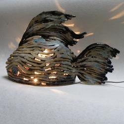 lampa ceramiczna,dekoracja - Ceramika i szkło - Wyposażenie wnętrz