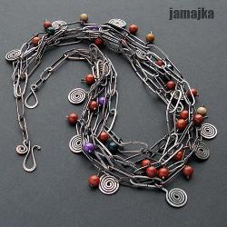 miedziany,kuty,oksyda,minerały,łańcuszki - Naszyjniki - Biżuteria