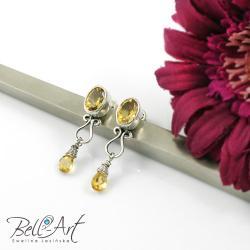eleganckie,błyszczące,cytryn,szlifowany - Kolczyki - Biżuteria