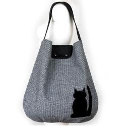kocia torba,kot,torba worek,hobo,pojemna - Na ramię - Torebki
